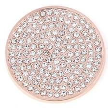Munt voor Muntketting Full crystals rose goudkleurig
