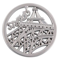 Munt voor Muntketting Eiffeltoren zilverkleurig