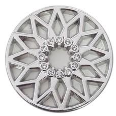 Munt voor Muntketting Zon met crystals zilverkleurig