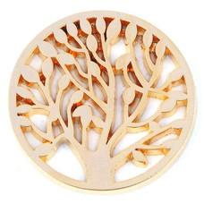Munt voor Muntketting Levensboom goudkleurig