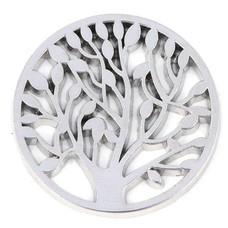 Munt voor Muntketting Levensboom zilverkleurig