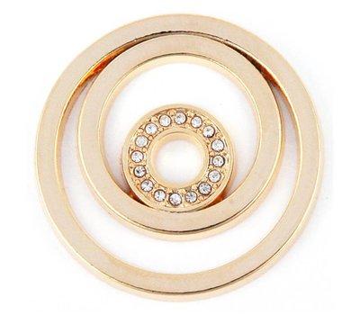 Munt voor Muntketting Circles goudkleurig