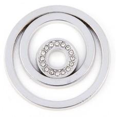 Munt voor Muntketting Circles zilverkleurig