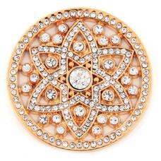 Munt voor Muntketting Famous crystals goudkleurig
