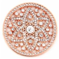 Munt voor Muntketting Famous crystals rose goudkleurig