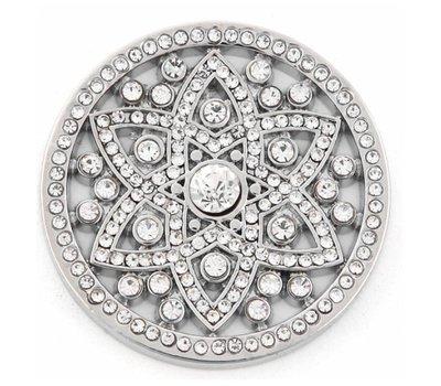 Munt voor Muntketting Famous crystals zilverkleurig