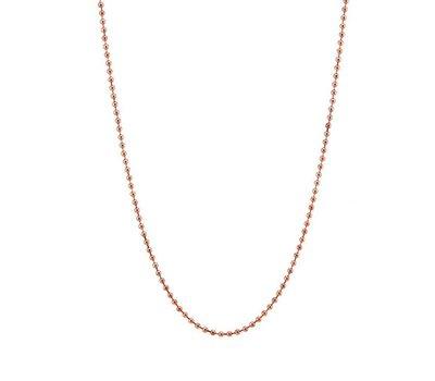 Ketting voor Muntketting Bal ketting Rosé goudkleurig 80cm van roestvrij staal