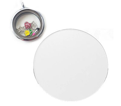 Floating locket  discs Memory locket anti overlap disk large