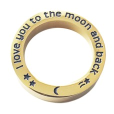 Floating locket  discs Memory locket open disk i love you to the moon goudkleurig large