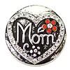 Clicks en Chunks | Click mom met strass zilverkleurig voor clicks sieraden