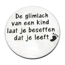 Floating locket  discs Memory locket disk de glimlach van een kind large