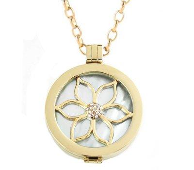 Complete Muntketting Pearl Flower goudkleurig
