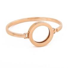 Armband voor munten Armband Rose goudkleurig smal van Roestvrij Staal