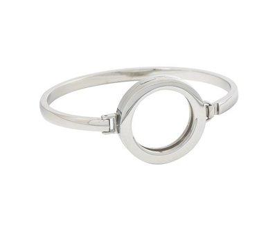 Armband voor munten Armband Zilverkleurig smal van Roestvrij Staal