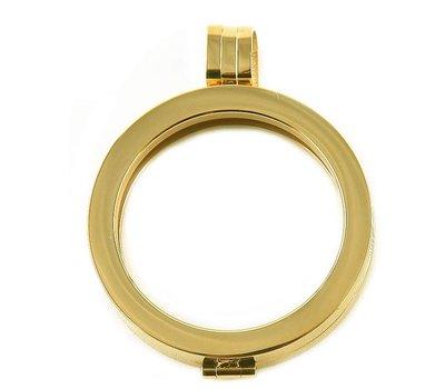 Hanger voor Muntketting Goudkleurig van Roestvrij Staal