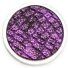 Munt voor Muntketting Wild life turtle paars zilverkleurig