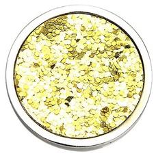Munt voor Muntketting Glitter goudkleurig zilverkleurig