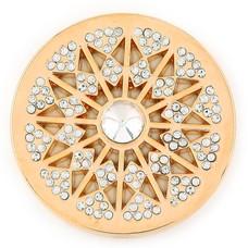 Munt voor Muntketting Star big crystal goudkleurig