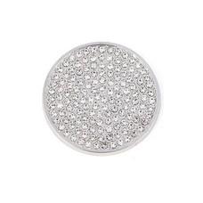 Munt voor Muntketting Full crystals smal zilverkleurig