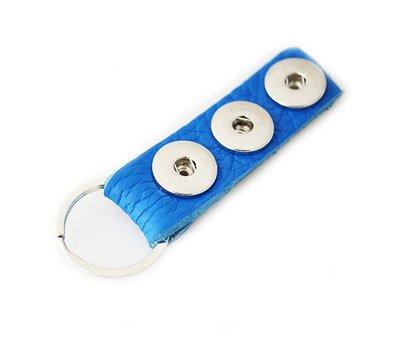 Clicks Sieraden Clicks sleutelhanger nubuck leer blauw lang