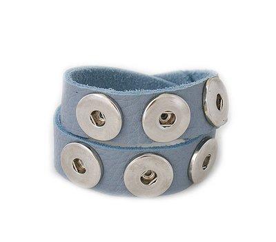 Clicks Sieraden Clicks armband nubuck leer dubbel blauw