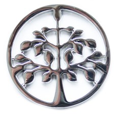 Munt voor Muntketting Tree of life zilverkleurig
