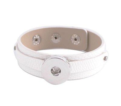 Clicks Sieraden Clicks armband leer snake wit