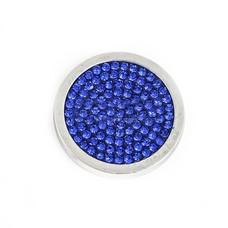 Munt voor Muntketting Full crystals donker blauw smal zilverkleurig