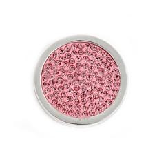 Munt voor Muntketting Full crystals roze smal zilverkleurig