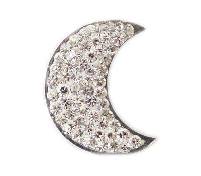 Clicks en Chunks | Click maan crystals zilverkleurig voor clicks sieraden