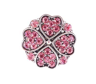 Clicks en Chunks | Click klavertje vier roze voor clicks sieraden