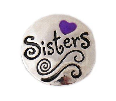 Clicks en Chunks | Click sisters paars hartje voor clicks sieraden
