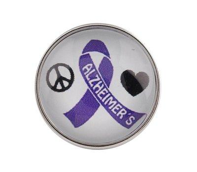 Clicks en Chunks | Click Alzheimer ribbon voor clicks sieraden