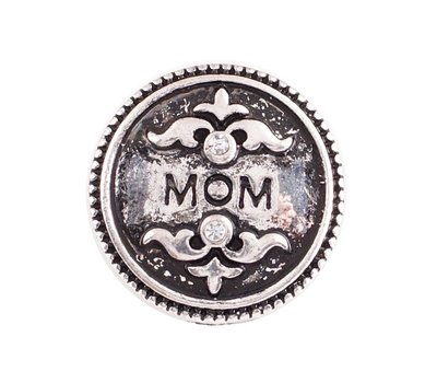 Clicks en Chunks | Click mama zilverkleurig voor clicks sieraden