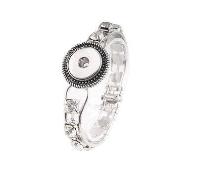 Clicks Sieraden Clicks armband sjiek strass zilverkleurig