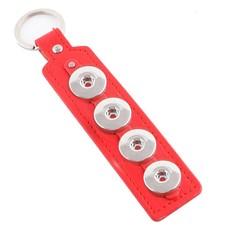 Clicks Sieraden Clicks sleutelhanger rood langwerpig 4 click