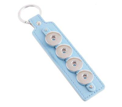 Clicks Sieraden Clicks sleutelhanger blauw langwerpig 4 click