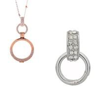 Accessoires Muntketting Spring clasp dangle zilverkleurig