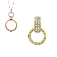Accessoires Muntketting Spring clasp dangle goudkleurig