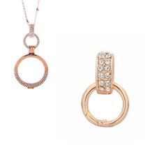 Accessoires Muntketting Spring clasp dangle rose goudkleurig