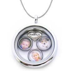 Ketting met foto Memory locket Ketting Familie