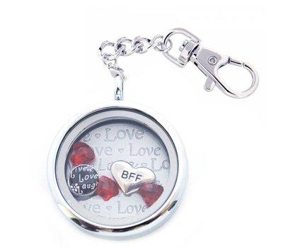 Complete Memory locket Memory locket sleutelhanger vriendin