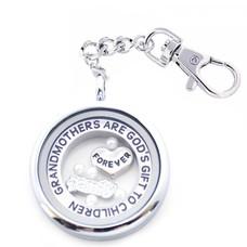 Complete Memory locket Memory locket sleutelhanger oma en familie