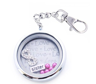Complete Memory locket Memory locket sleutelhanger zus