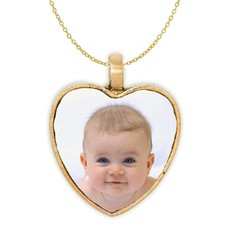 Ketting met foto Ketting met foto hanger hart antiek goudkleurig
