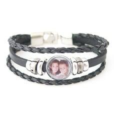 Armband met Foto Armband met Foto Zwart Triple