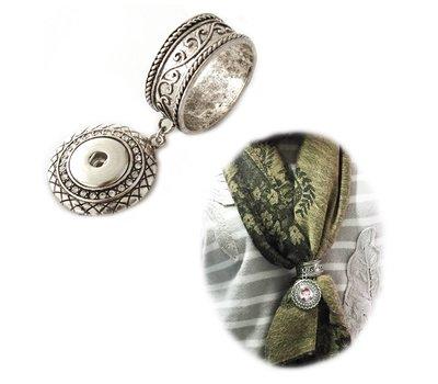 Fotoproducten Sjaal ring met foto zilverkleurig