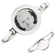 Armband met foto graveren Armband met foto graveren zilverkleurig