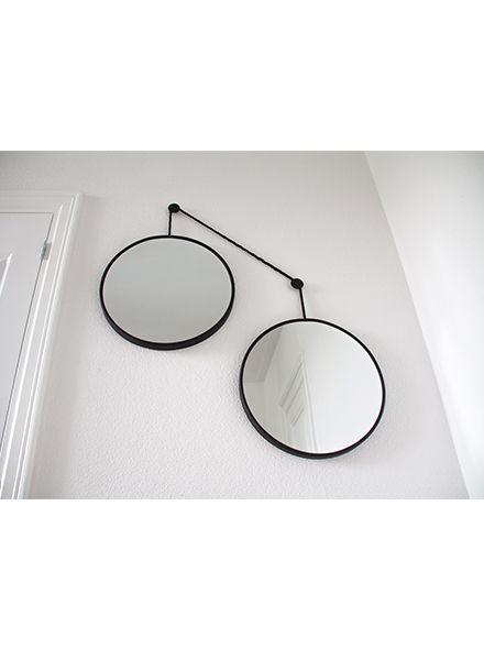 Spiegel-set TWINS - zwart koord