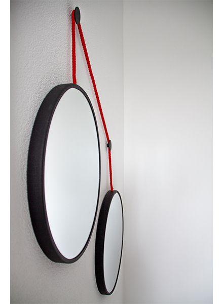 Spiegel-set TWINS - rood koord